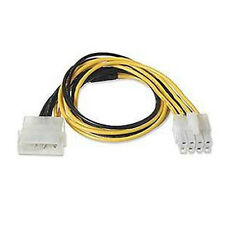 4 Pin Molex to 8 Pin ATX EPS12V Motherboard Power Converter Adapter Cable 8""