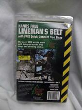 NEW Hunter Safety System Hands Free Lineman's Belt with Quick Connect Tree Strap