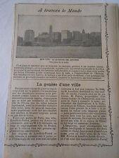 Vue de New York Le Quartier des Affaires Image Print 1909