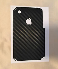 Apple iPhone 3GS, 3G - carbon vinyl rear cover