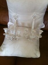 two lovely candle wall sconces