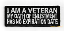 I AM A VET MY OATH HAT PATCH US ARMY MARINES NAVY AIR FORCE PIN UP VETERAN WOW