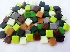 80 MINECRAFT SQUARE PIXELS handmade Sugar edible cupcake topper decorations 1cm