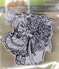 New Cling Penny Black RUBBER STAMP THANKS A BUNCH LITTLE GIRL free us shp