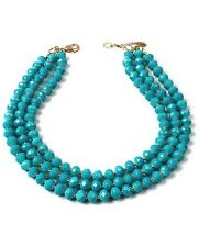 NWT Amrita Singh Bowery Street Turquoise Resin Beads Statement Necklace $120