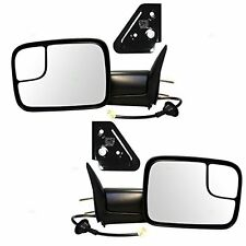For 98-02 Dodge Ram Pickup Side Mirror Power Heated Towing Mirrors Pair Brackets