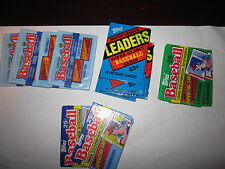 Lot of 12 Wax Packs of Topps '86 ML Leaders  '89, '90 Baseball Yearbook Stickers