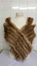 VINTAGE 1950s GOLDEN Mink Wide Donna Stola