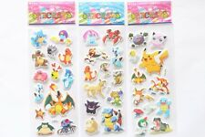 3pcs Fashion Pokemon Go Stickers Pocket Monster Sticker Scrapbooking Sheet LCF