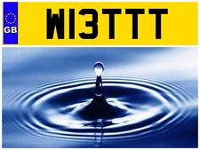 W13 TTT WET WATER SPA HOT TUB PLUMBER BATHROOM SWIMMING POOL POOLS NUMBER PLATE