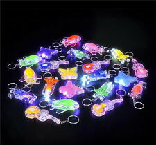 WHOLESALE 48 PACK LIGHT UP LED KEY CHAINS BATTERIES INCLUDED BRIGHT GOODY BAGS