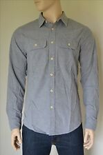 NEW Abercrombie & Fitch Chamois Military Brushed Flannel Shirt Grey L
