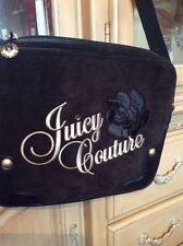 Juicy Couture Black Tan Rhinestone Charm Laptop Computer Case Strap Cross body
