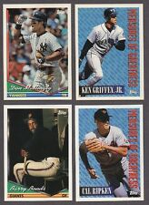 1994 TOPPS LOT COMPLETE YOUR SET & GOLD & BLACK GOLD WITH 25 PICKS