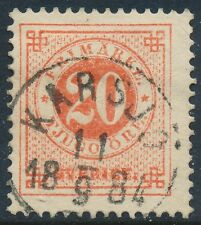 Sweden Scott 33/Facit 33e, 20ö red Ringtyp p.13, F Used KARSJÖ cancel, LYX