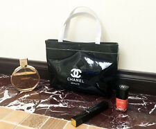CHANEL Beauty Black Patent Small Makeup Travel Lunch bag VIP Gift - Free Ship