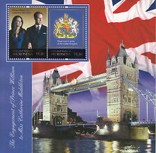 Micronesia 2010 MNH Royal Engagement Prince William Kate 2v S/S I Stamps