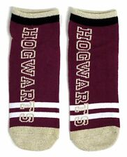 LADIES HARRY POTTER HOGWARTS DEEP MAGENTA & GOLD SHOE LINERS SOCKS ONE SIZE