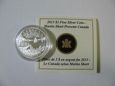 2013 Proof $3 Martin Short Presents Canada .9999 silver COIN&COA ONLY three doll