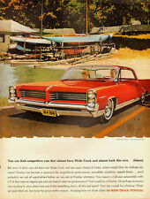 1964 vintage automobile ad, PONTIAC Bonneville, red 2dr,  AF VK, artists- 070313