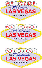 LAS VEGAS SIGN x 3 Vinyl Stickers - America / Nevada / Gambling / Novelty Themed
