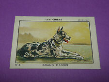 RARE CHROMO 1933 JOSEPH-MILLIAT LES CHIENS GRAND DANOIS