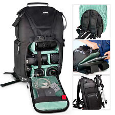 NEW DSLR Camera Bag Backpack & 15' Padded Laptop Padded Compartment + Rain Cover