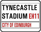 HEARTS OF MIDLOTHIAN F.C. STREET SIGN ON MOUSE MAT / PAD. 25 X 19cm. TYNECASTLE