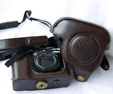 Dark Brown LEATHER Camera Case Bag Cover For CANON POWERSHOT G7 G9 G10 G11 G12