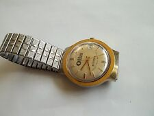 OLIN ECUSTA watch,GREAT BRITAIN,WORLDS SAFEST PAPER MILL wind up,automatic,works