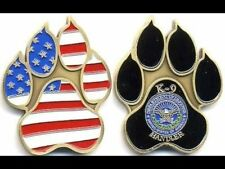 K9 Handler Working Dog Paw Army Navy Marine Air Force Challenge Coin PS