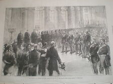 Proclaiming Wilhelm I Emperor of Germany at Versaille religious service 1871