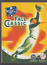 New York Mets vs New York Yankees 2000 Subway World Series Program