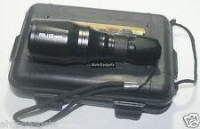 Police 20000W KY-601 LED Flashlight Zoomable With Case,Battery 18650 & Charger