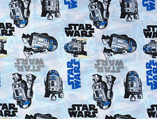 "24"" REMNANT  STAR WARS MOVIE FILM R2 D2 ROBOT GALAXY 100% QUILTING COTTON FABRIC"