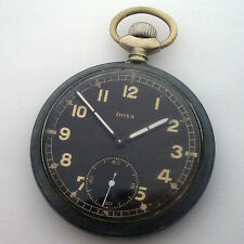 Rare Old Pocket Watch German Army DOXA DH of period WWII
