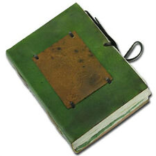 Medieval Hand Crafted Blank Diary Jester Journal Notebook Green