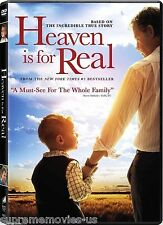 NEW - Heaven Is For Real DVD NEW 2014 ORIGINAL -Based On A True Story BRAND NEW