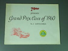 The Motor Grand Prix Cars of 1960, Lotus-Climax, Fold-Out Poster Booklet