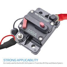 100A Car Circuit Breaker Switch Auto Thermal Trip Inline Power Fuse Inverter