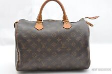 Authentic Louis Vuitton Monogram Speedy 30 Hand Bag M41526 LV 27420