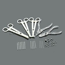 Disposable Needles Jewelry Set Kit Ear Lip Nipple Belly Nose Body Piercing Tools