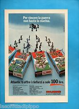 ALTOP973-PUBBLICITA'/ADVERTISING-1973- ATLANTIC -I RINFORZI A 100 LIRE