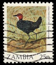 """ZAMBIA 377 (SG487) - Long-tailed Fluff Tail """"Sarothura lugens"""" (pf95190)"""