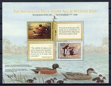 40284) AUSTRALIA - USA 1990 Joint issue Australia/USA S/S - ducks birds