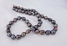 "Honora Sterling Silver Baroque Freshwater Cultured Pearl 18"" Necklace PEACOCK"