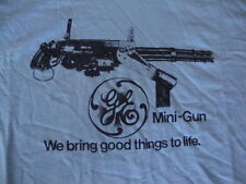 Vintage GE General Electric MINI GUN Very rare punk rock T shirt Men's Size 2XL