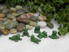 Miniature Dollhouse FAIRY GARDEN Accessories ~ Set of 6 TINY Pond Frogs ~ NEW