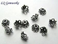 30 Bali Sterling Silver 7x3mm Bead Caps  763