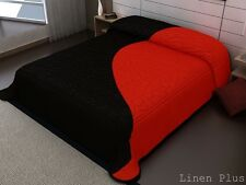 Black Red 3D crafted Thick Heavy 11 Ibs Super Soft Mink King Size Blanket New
